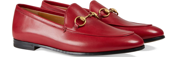 Gucci Jordaan loafers red