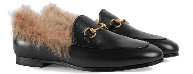 Gucci Jordaan loafers wool black