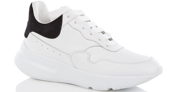 Alexander McQueen runner sneakers zwart wit
