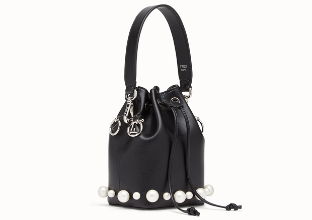 Fendi Mon Tresor bucket bag black pearls