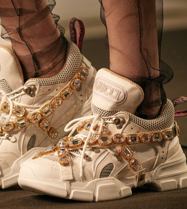 Gucci Fall Winter 2018 oversized bejeweled sneakers