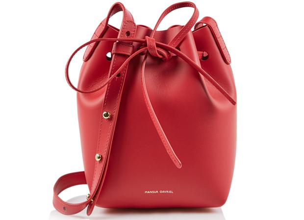 Mansur Gavriel mini mini bucket red