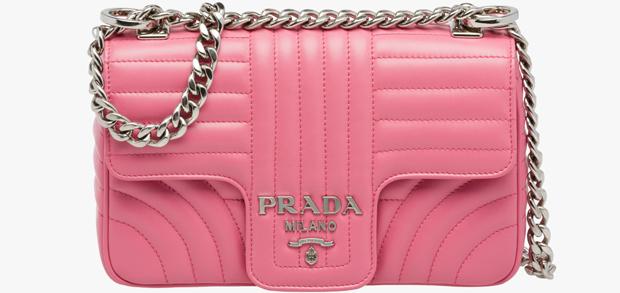 Prada Diagramma bag pink