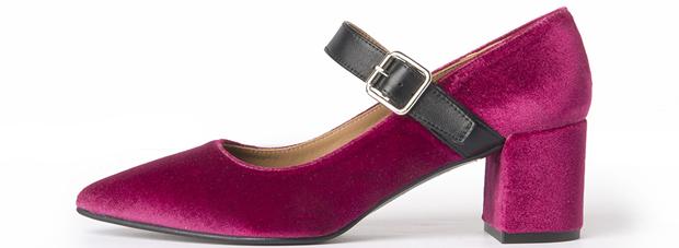 Flattered x Annabel Rosendahl fuchsia velvet pumps