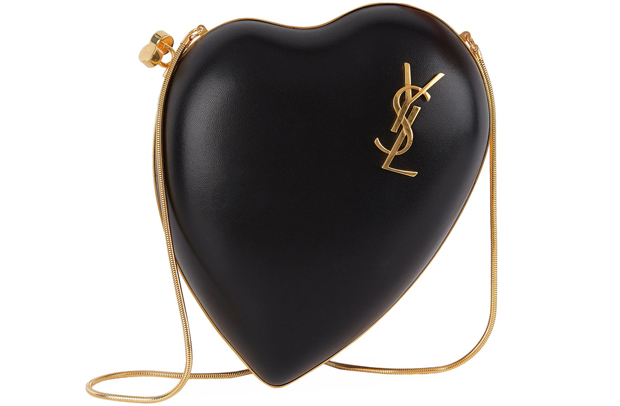 Saint Laurent Love Box heart clutch