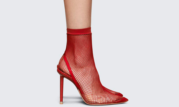 Alexander Wang Caden fishnet red