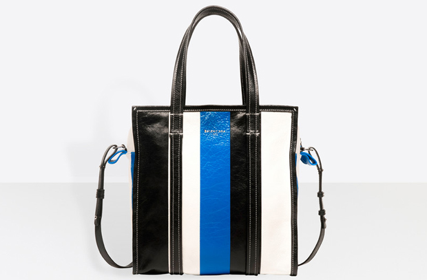 Balenciaga bazar xs stripes blue