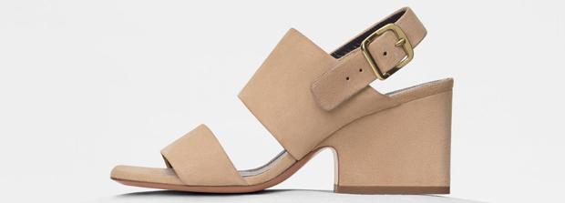 Celine mid heel sandals beige