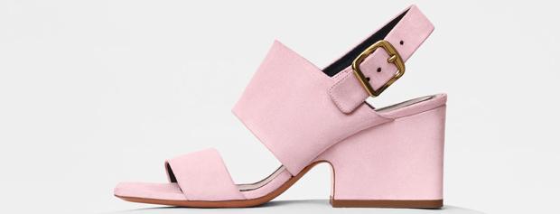 Celine mid heel sandals pink