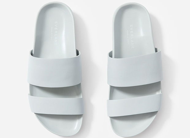 Everlane two strap sandals light blue
