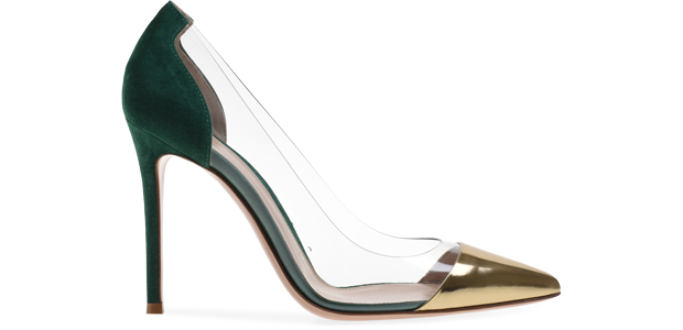 Gianvito Rossi plessi pumps gold emerald green