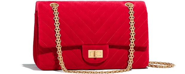 Chanel Paris Hamburg 2.55 flap bag red velvet