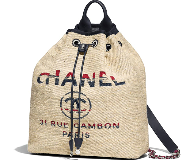 Chanel Paris Hamburg backpack beige canvas