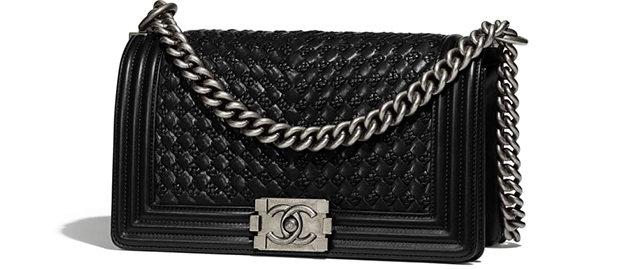 Chanel Paris Hamburg Boy Bag medium braided calfskin