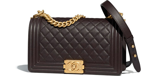 Chanel Paris Hamburg Boy Bag medium brown calfskin