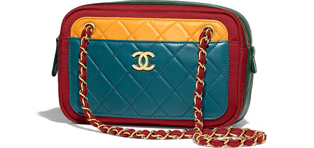 Chanel Paris Hamburg camera lambskin jersey