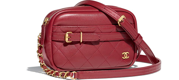 Chanel Paris Hamburg camera burgundy