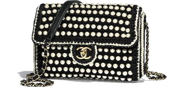 Chanel Paris Hamburg flap bag pearls