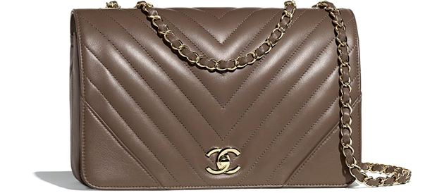 Chanel Paris Hamburg flap bag khaki chevron