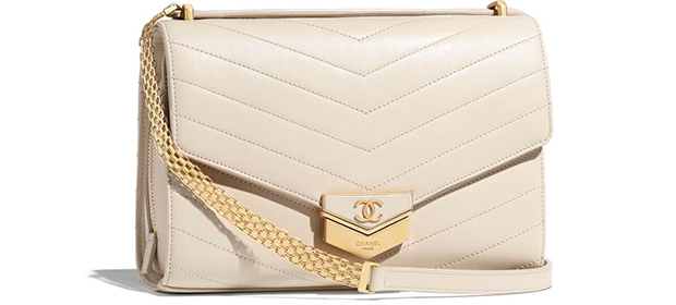 Chanel Paris Hamburg flap bag beige