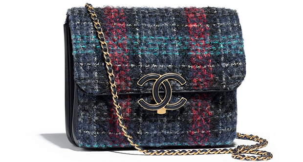 Chanel Paris Hamburg flap bag tweed