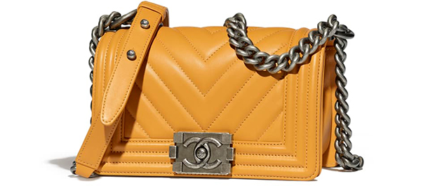 Chanel Paris Hamburg Boy Bag smalll yellow calfskin