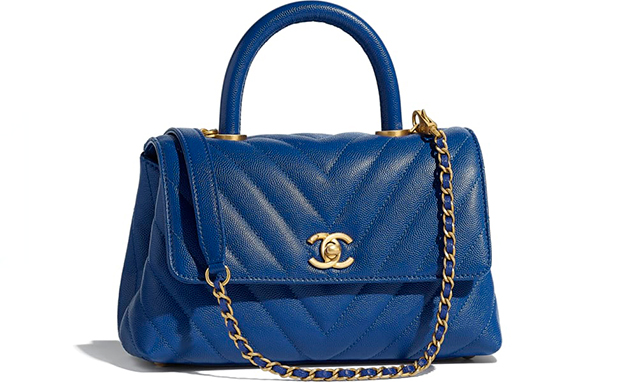 Chanel Paris Hamburg Coco handle small blue