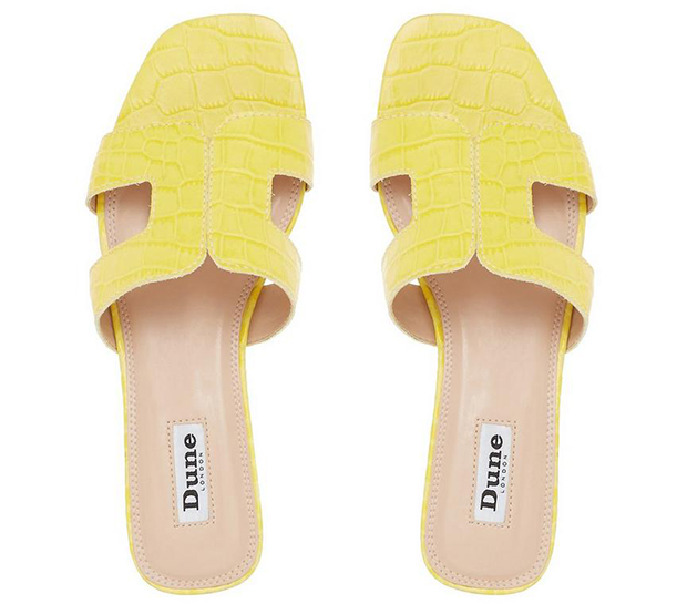 Dune Loupe sandalen geel croco