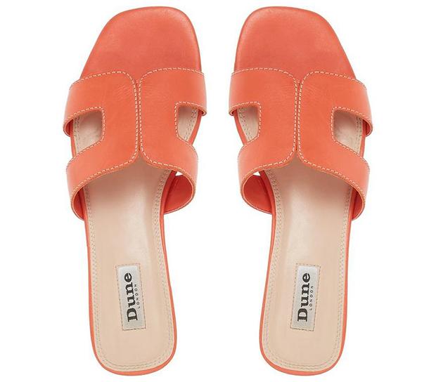 Dune Loupe sandalen oranje