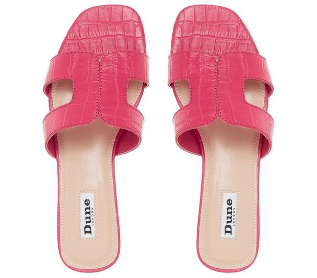 Dune Loupe sandalen roze croco