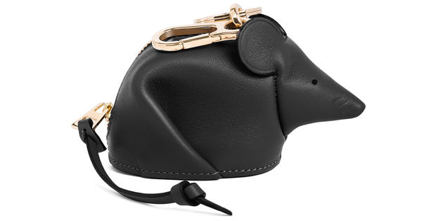 Loewe animals mouse coin purse black