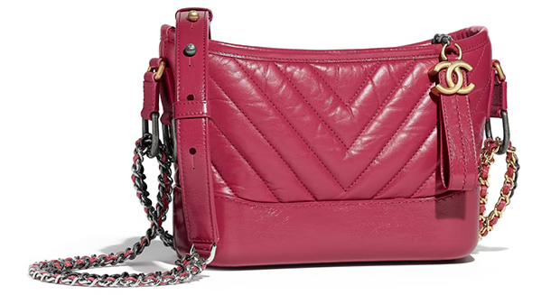 Chanel pre autumn winter 18 Gabrielle small hobo aged calfskin pink