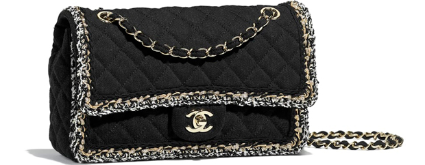 Chanel pre autumn winter 18 classic flap bag black denim tweed