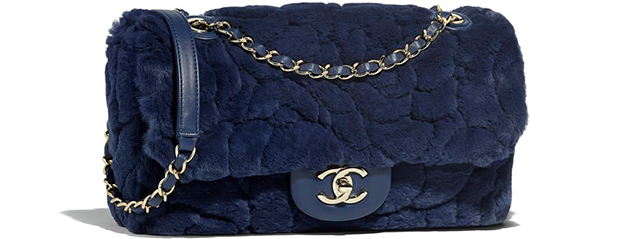 Chanel pre autumn winter 18 classic flap bag blue orylag