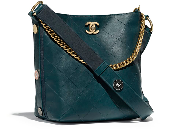 Chanel pre autumn winter 18 hobo bag blue calfskin
