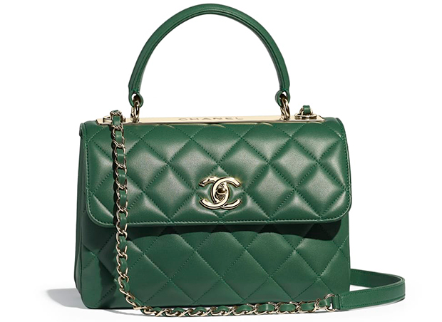 Chanel pre autumn winter 18 coco handle green lambskin