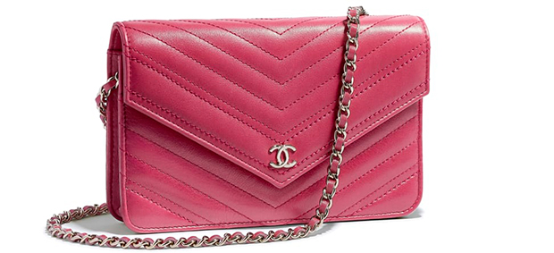 Chanel pre autumn winter 18 wallet on a chain pink calfskin