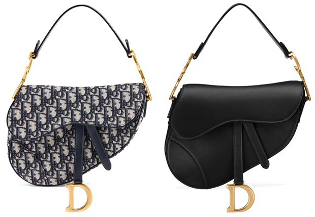 Dior Saddle bag mini toile leather
