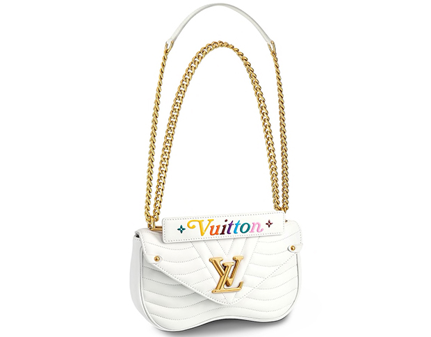 Louis Vuitton New Wave chain bag MM show white