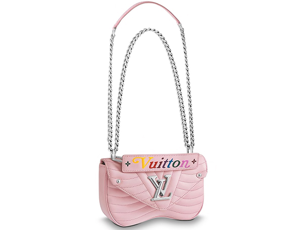 Louis Vuitton New Wave chain bag pm smoothie pink