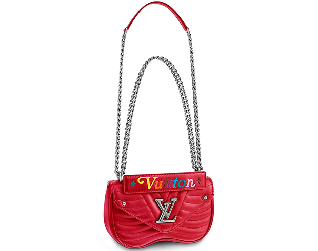 Louis Vuitton New Wave chain bag pm scarlet red