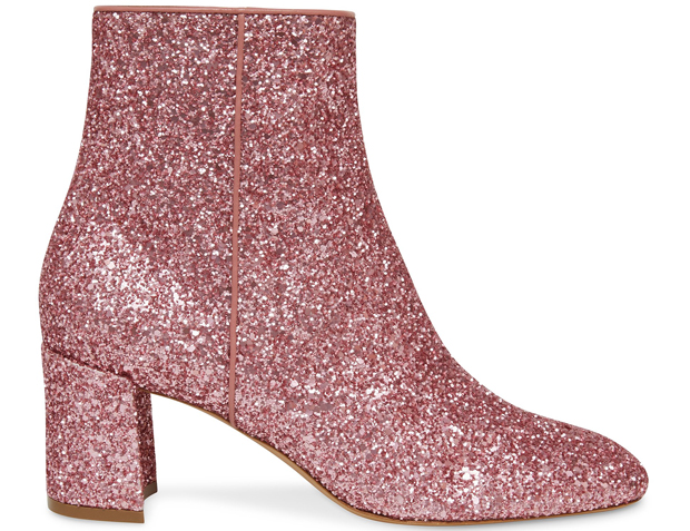 Mansur Gavriel 65mm ankle boots glitter blush