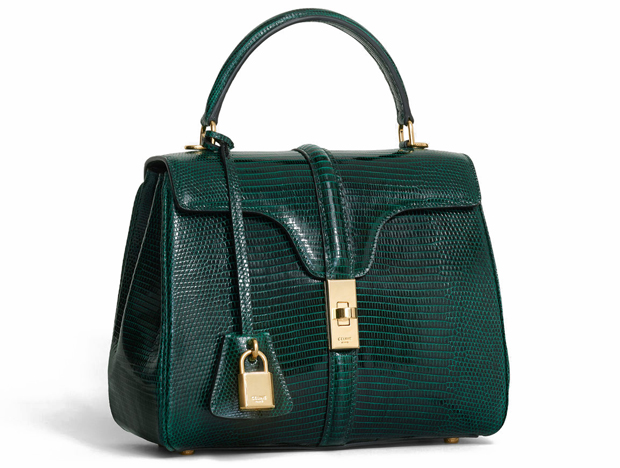 Celine sac 16 small lizard green