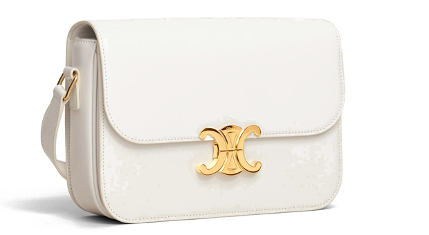 Celine Triomphe medium white