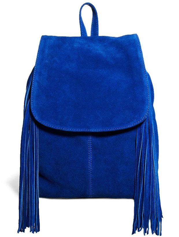 Asos Blue Fringed Backpack
