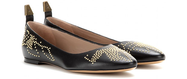 Chloe Susanna studded leather ballerinas pair