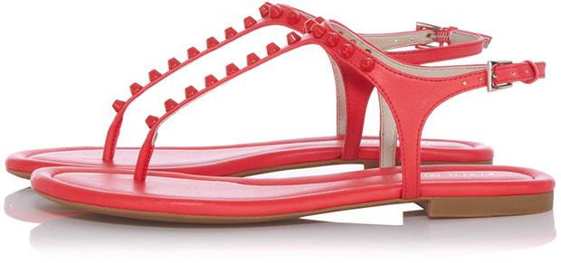 Karen Millen sandalen lakleer studs