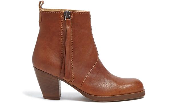 Acne Pistol boots cognac
