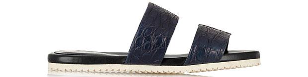 Adam Lippes crocodile slides