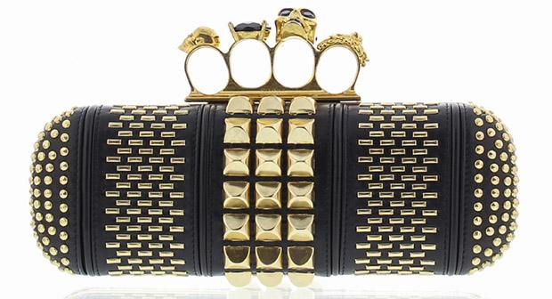 Alexander McQueen duster clutch